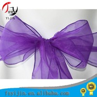 Brand new many colors organza sashes for chairs