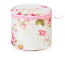 Chinese products mesh round washing laundry cloth bag for bra and socks bag with zipper