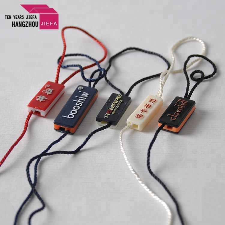 Fashion plastic hook elastic string hang tag famous brands