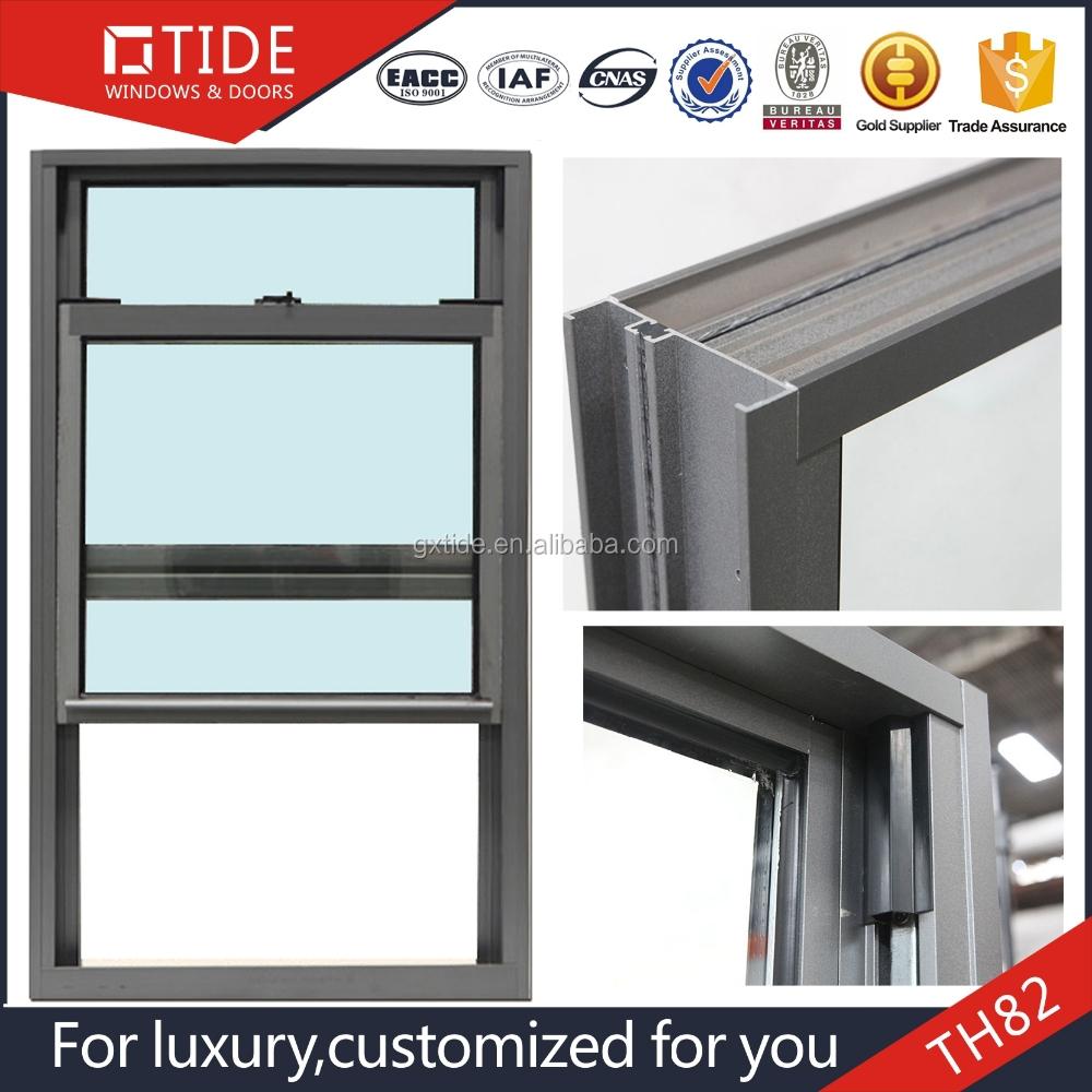 Th82 vertical sliding aluminum single hung window design for Vertical sliding window design