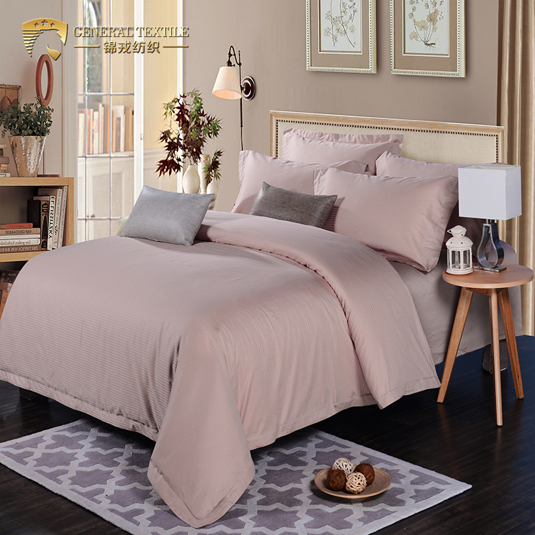 18JREA507 hotel bedding sets Items 1000TC 100% egyptian cotton all size bedding sets with silver grey stripe