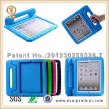 shock absorbent EVA cases for i pad 2 and new ipad with handle for kids