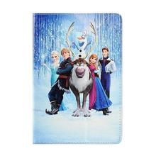 For Ipad mini New Cartoon Frozen Gril Elsa Anna Olaf Sven PU Leather Flip Case Cover for ipad mini 2