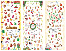 3d christmas nail stickers,christmas style easy nail designs