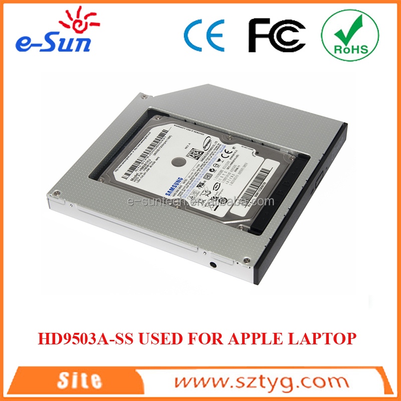 Brand new 2nd Hard Disk Driver HDD Enclosure 9.5mm Universal CD/DVD-ROM Optical Bay SATA To SATA