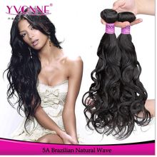Unprocessed natural wave hair weft virgin brazilian hair