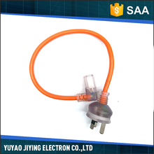 China supplier high quality orange color clear head flexible power cord