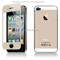Wholesales Colorful Tempered Glass Screen Protector 0.15mm/0.26mm Cell Phone Covers for iphone4 4s