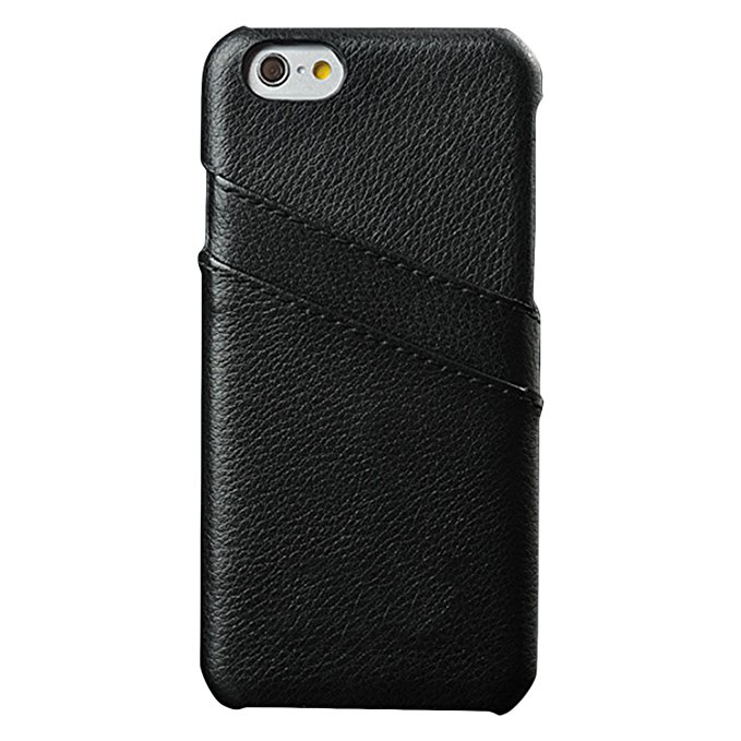 Genuine Leather Slim Back Case Cover With Credit Card Holder for iPhone 7
