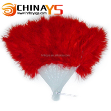 Hot sale high quality marabou cheap feather fans YS4015 for belly dance