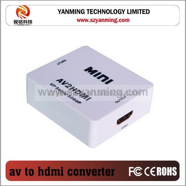 Mini RCA CVS 3 RCA Composite Video AV to HDTV Converter for TV PC PS3