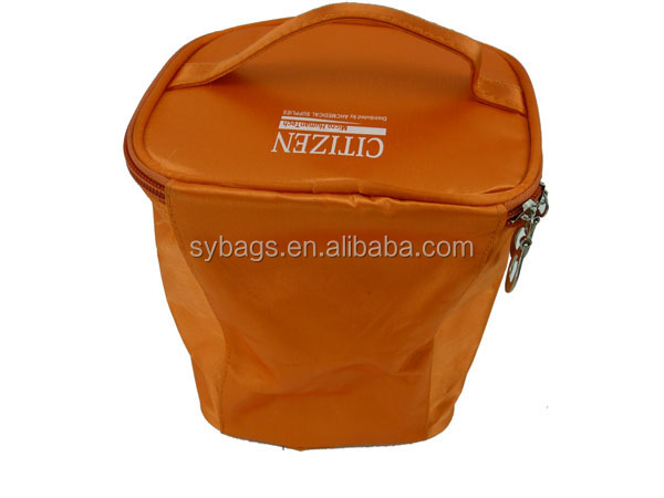 Foldable Travel Cosmetic Bag / Promotional Cosmetic Case / Satin Beauty Case