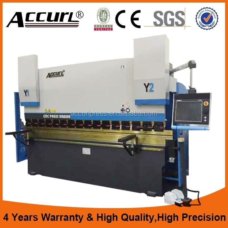 Accurl 3 axis electromagnetic bending machine with Delem DA52s CNC Control / Y1 Y2 X - axis <strong>Laser</strong> Safe