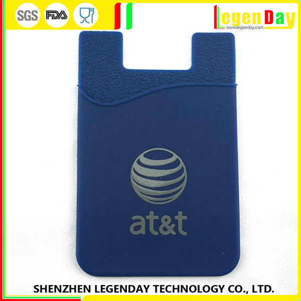 High Quality silicone phone case with business card holder