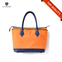 Contrast Color Zipper Closure Handbag Brand Famous/Nylon Fabric Handbag
