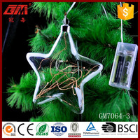 hanging star decoration with LED line light home decor or gifts