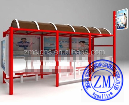 Outdoor Led Advertising Screen Bus Stop Best Price Bus Stop Shelter / Bus Stop Station