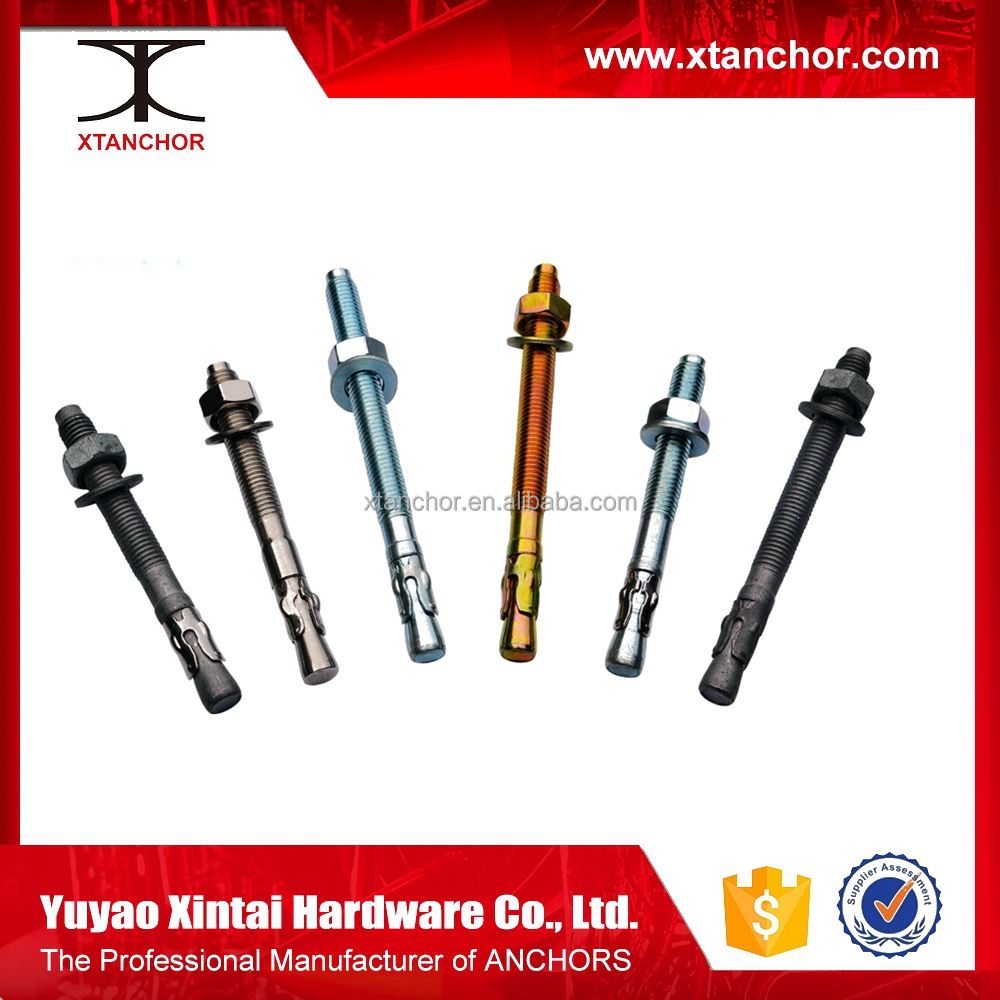 Wholesale Price Stainless Steel 316 Wedge Anchor china supplier double head Foundation Bolt wedge anchor with flange nut