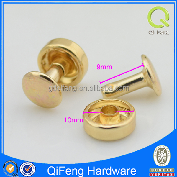 Flat fashion rivets and studs rivet nut for bag/shoes