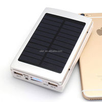 Electronic gadgets 30000mah dual usb portable solar panel power bank