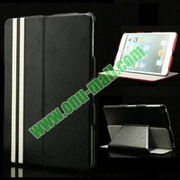 Fashionable Foldable Leather Case for iPad Mini Retina with Stand