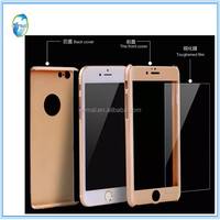 360 full case one set with tempered glass for apple iphone 6 i6 plus