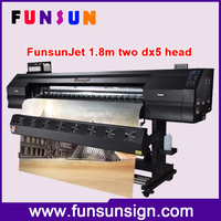 Funsunjet 1.8m printer sublimation printer flag banner cloth printing machine with CE approved