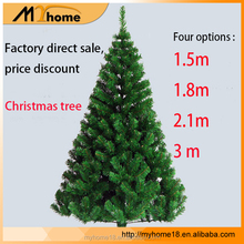 Wholesale 2017 hot artificial christmas decoration PVC material christmas tree, christmas decorating for other festival /party