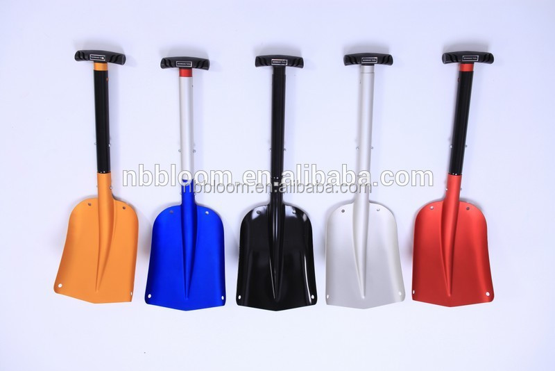MOQ 2PCS Colorful Telescopic Aluminum Car Adjustable Snow Shovel