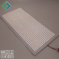 China Custom high cri Ra95 CCT changeable bi color 300x600mm flexible led tile lighting