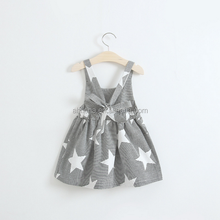 F10344A Hot sale girls' dress wholesale fashion girl's star pattern summer dress
