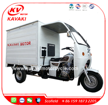 China Suppliers 3 Wheel Tricycle Cabin Van Vending Tricycle