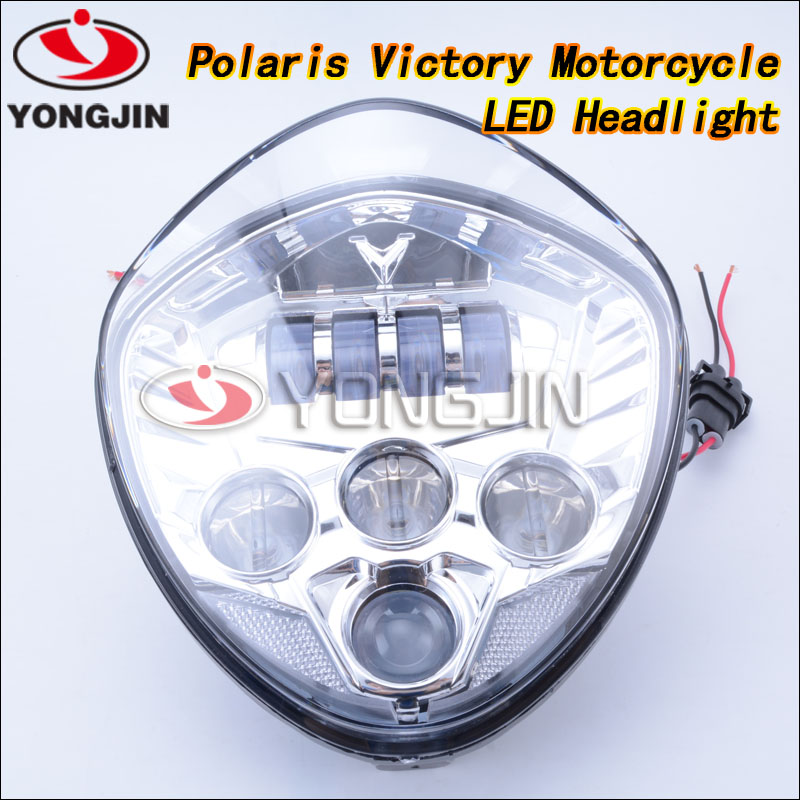 LED headlight kit-For victory cross-country 2010-2016 motorcycle driving light forPolaris Victory Motorcycle BLACK LED Headlight