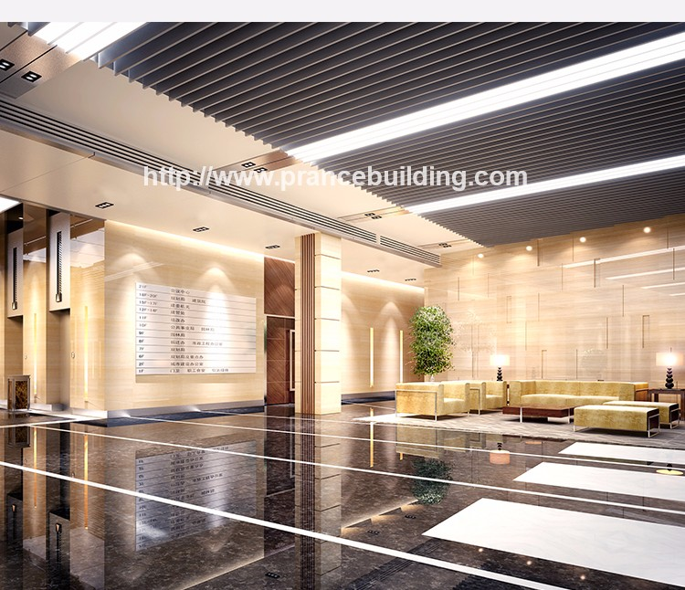 2019 decorative aluminum alloy metal blade ceiling