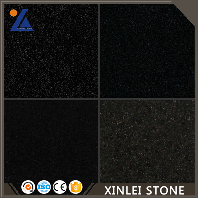 Building material Waterjet pure black granite tiles, slabs, boards
