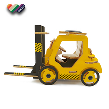 Solar Powered Wooden Running Forklift 3D puzzle