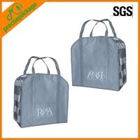Laminated Zipper Shopper Bags with Handle