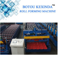 Glazed Color Coated Metal Roof Tile Making Machine