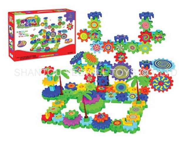 B/O brick train DIY educational toys 151PCS