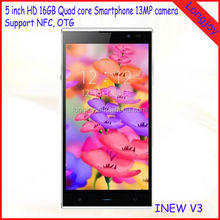5 inch Android 4.2 MTK6582 Quad Core 1.3GHz 1GB 16GB OGS Screen NFC INEW V3 Smartphone