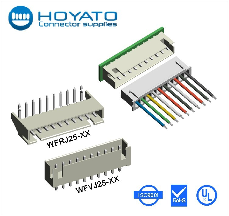OEM wholesale 2.5mm pin power wafer electronic connectors & terminals straight wire cable connector