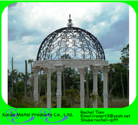 wrought iron trellis design/cast iron pergola