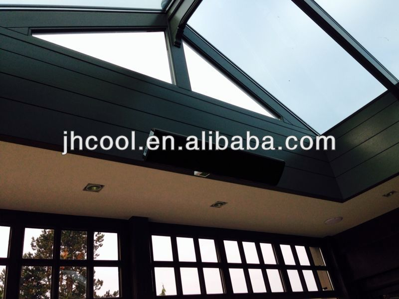 Outdoor electrical heater terrace