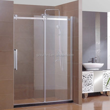 Latest design product bathroom 12mm toughened sliding glass door