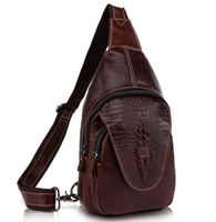 2015 Cowhide Leather Men Waist Bags, Brown Funny Pack Messenger Shoulder Bags