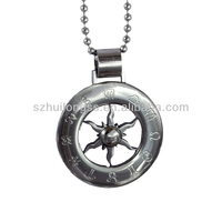 china jewelry wholesale personality metal sun pendant greek letter for engraving