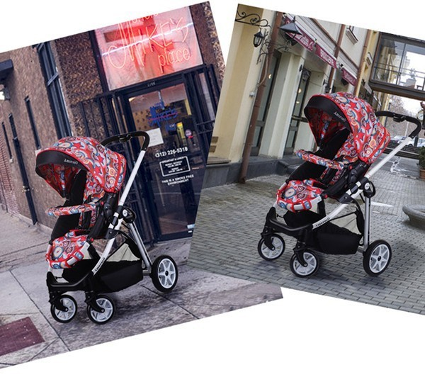 One touch double brakes light weight baby buggy EN1888 baby stroller baby pram