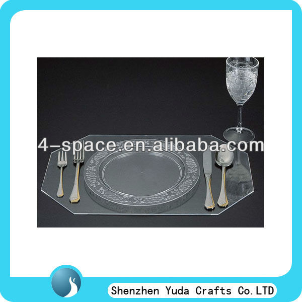 3mm thick acrylic banquet serving tray