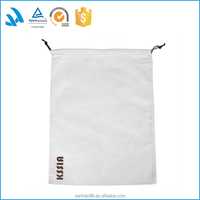 Custom resuable cotton drawstring dance shoe care bag with logo