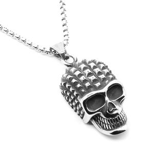 Wholesale Punk Skull Pendant Necklace Personality Stainless Steel Chain Necklace Jewelry